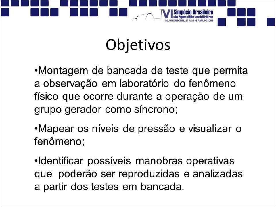Objetivos Montagem de bancada de teste que permita a observação em laboratório do fenômeno físico que ocorre durante a operação de um grupo gerador co