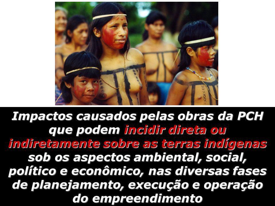 Impactos causados pelas obras da PCH que podem incidir direta ou indiretamente sobre as terras indígenas sob os aspectos ambiental, social, político e