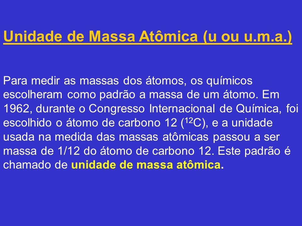 Massa molar de uma substância é a massa de 1 mol de entidades representadas pela fórmula da substância.