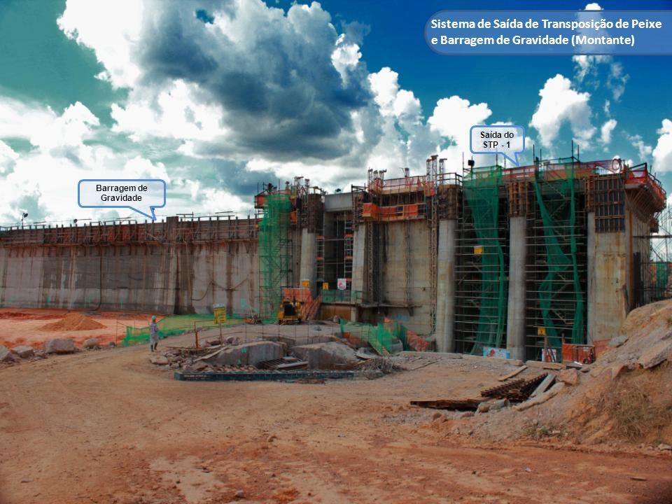 Sistema de Saída de Transposição de Peixe e Barragem de Gravidade (Montante) Saída do STP - 1 Barragem de Gravidade