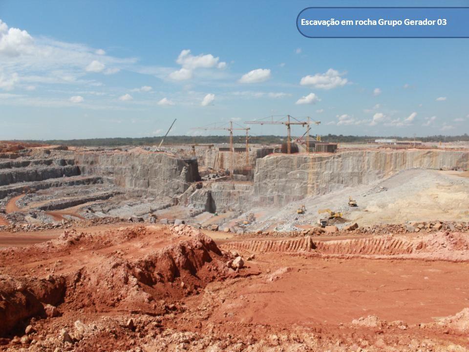 Escavação em rocha Grupo Gerador 03