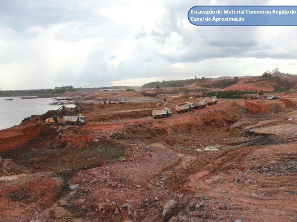 Escavação de Material Comum na Região do Canal de Aproximação