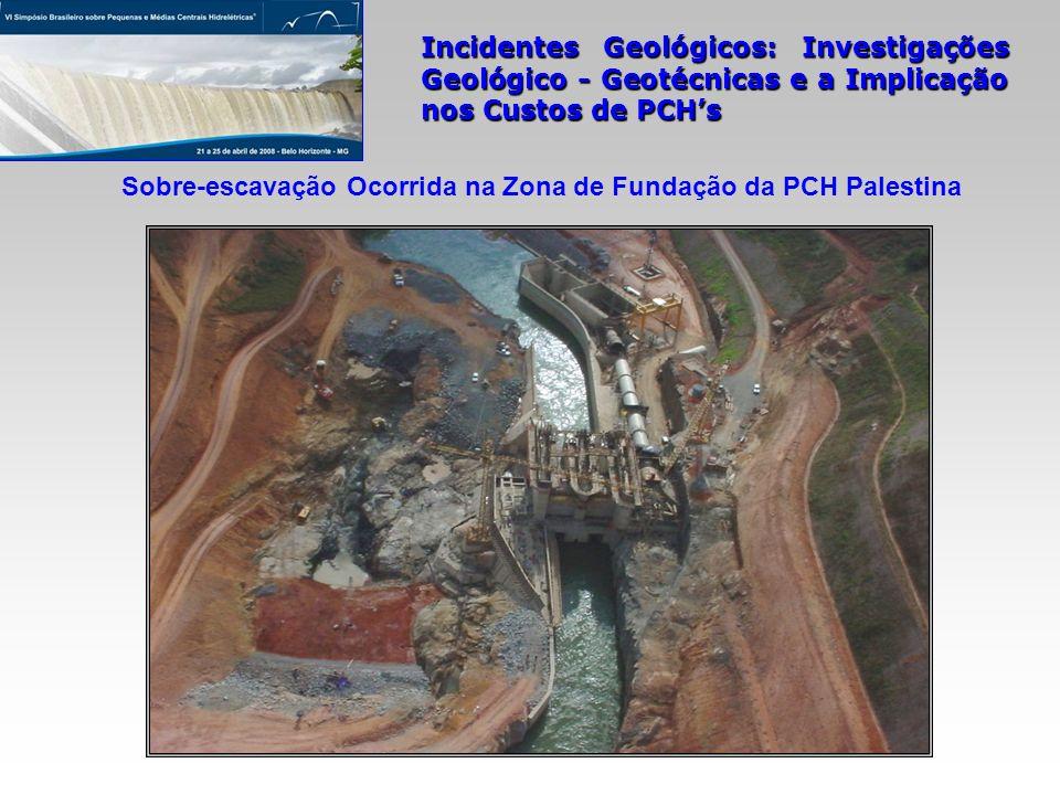 Incidentes Geológicos: Investigações Geológico - Geotécnicas e a Implicação nos Custos de PCHs Sobre-escavação Ocorrida na Zona de Fundação da PCH Pal