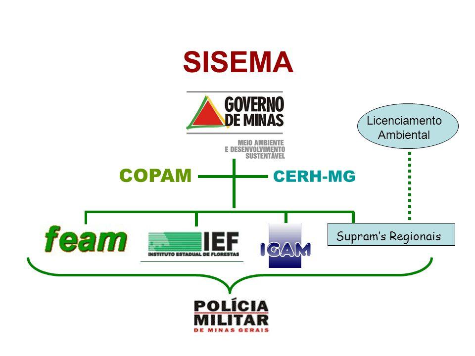 COPAM CERH-MG SISEMA Suprams Regionais Licenciamento Ambiental