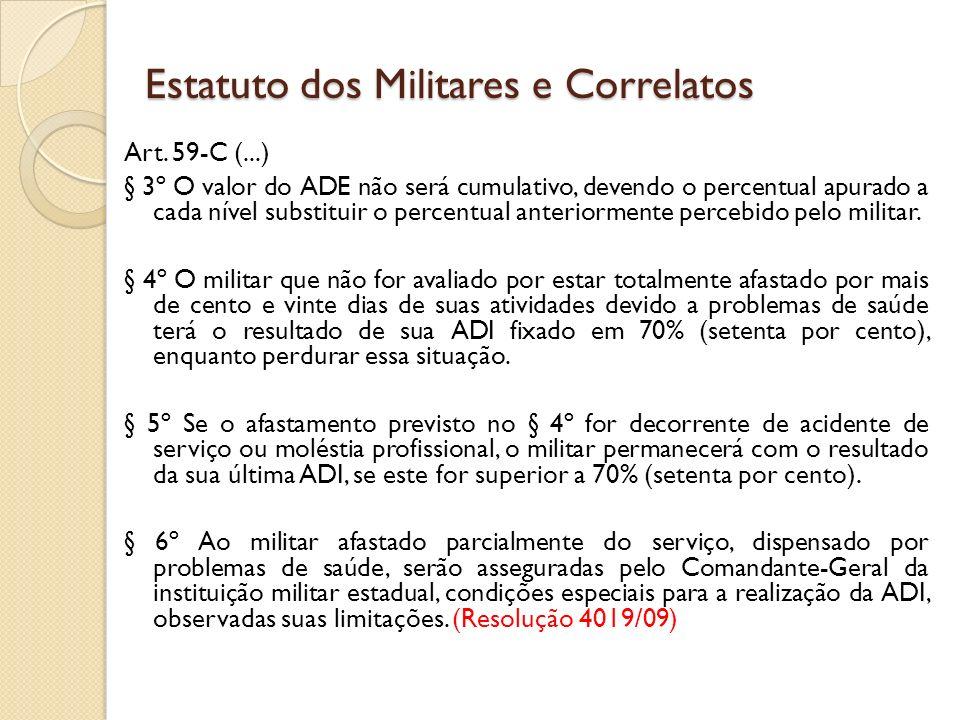 Art. 59-C (...) § 3º O valor do ADE não será cumulativo, devendo o percentual apurado a cada nível substituir o percentual anteriormente percebido pel