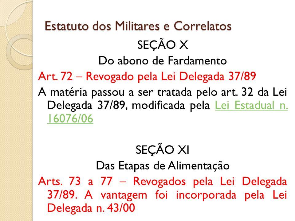 SEÇÃO X Do abono de Fardamento Art.