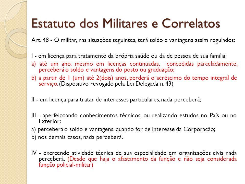 Estatuto dos Militares e Correlatos Art.