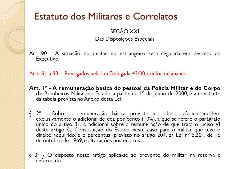 SEÇÃO XXI Das Disposições Especiais Art.