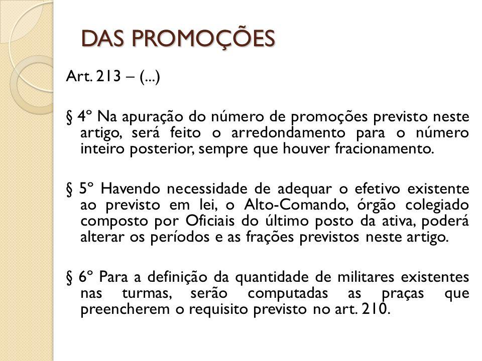 Art. 213 – (...) § 4º Na apuração do número de promoções previsto neste artigo, será feito o arredondamento para o número inteiro posterior, sempre qu