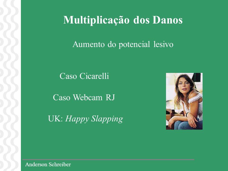 Anderson Schreiber Multiplicação dos Danos Aumento do potencial lesivo Caso Cicarelli Caso Webcam RJ UK: Happy Slapping