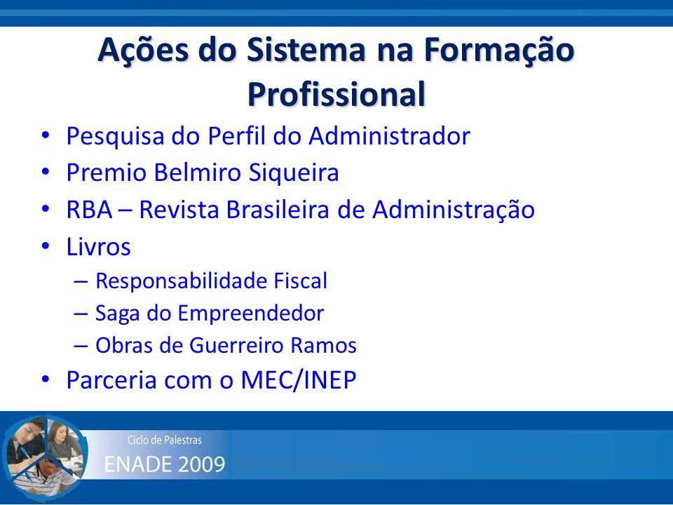 Ações do Sistema na Formação Profissional Pesquisa do Perfil do Administrador Premio Belmiro Siqueira RBA – Revista Brasileira de Administração Livros