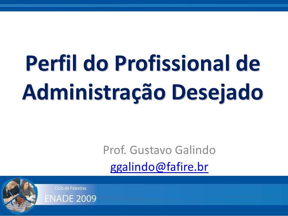 Perfil do Profissional de Administração Desejado Prof. Gustavo Galindo ggalindo@fafire.br