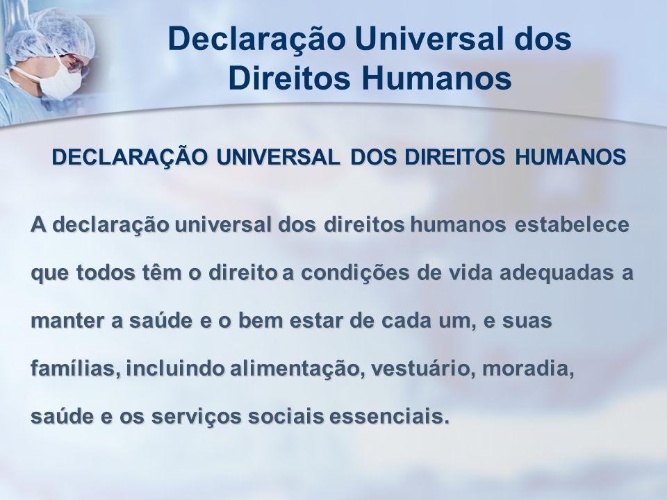 Declaração Universal dos Direitos Humanos DECLARAÇÃO UNIVERSAL DOS DIREITOS HUMANOS A declaração universal dos direitos humanos estabelece que todos t