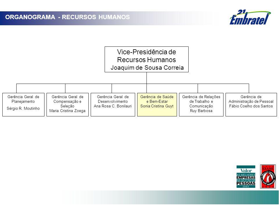 Gerência Geral de Compensação e Seleção Maria Cristina Zoega Gerência Geral de Desenvolvimento Ana Rosa C. Bonilauri Gerência de Administração de Pess