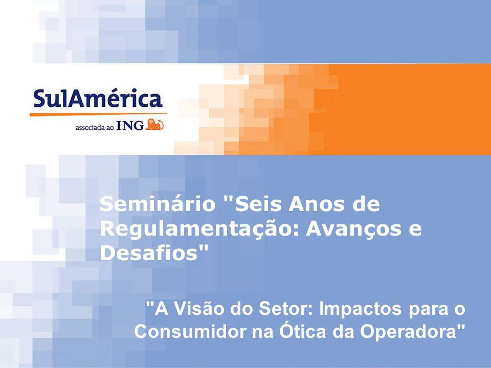 1 Seminário Seis Anos de Regulamentação: Avanços e Desafios A Visão do Setor: Impactos para o Consumidor na Ótica da Operadora