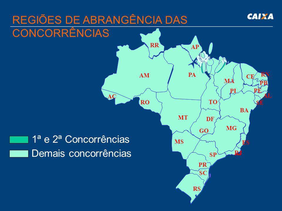 CRONOGRAMA COMPLETO DAS CONCORRÊNCIAS