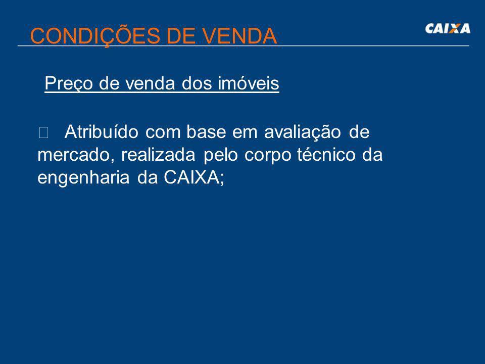 CONDIÇÕES DE VENDA Garantias da Operação  Alienação fiduciária do imóvel;  Suspensão automática do pagamento do aluguel, em caso de inadimplemento d