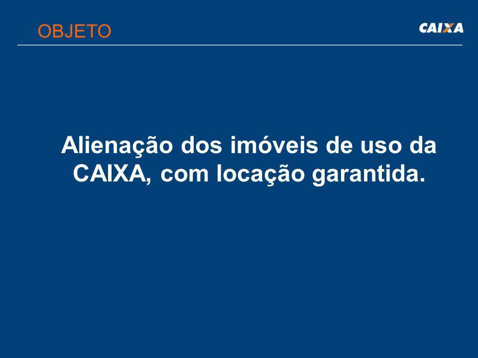  Depósito de caução no valor de 3% do valor do imóvel; efetuado em qualquer agência da CAIXA, em conta específica; Uma via do recibo de depósito, autenticada, deverá ser encaminhada junto com a proposta.