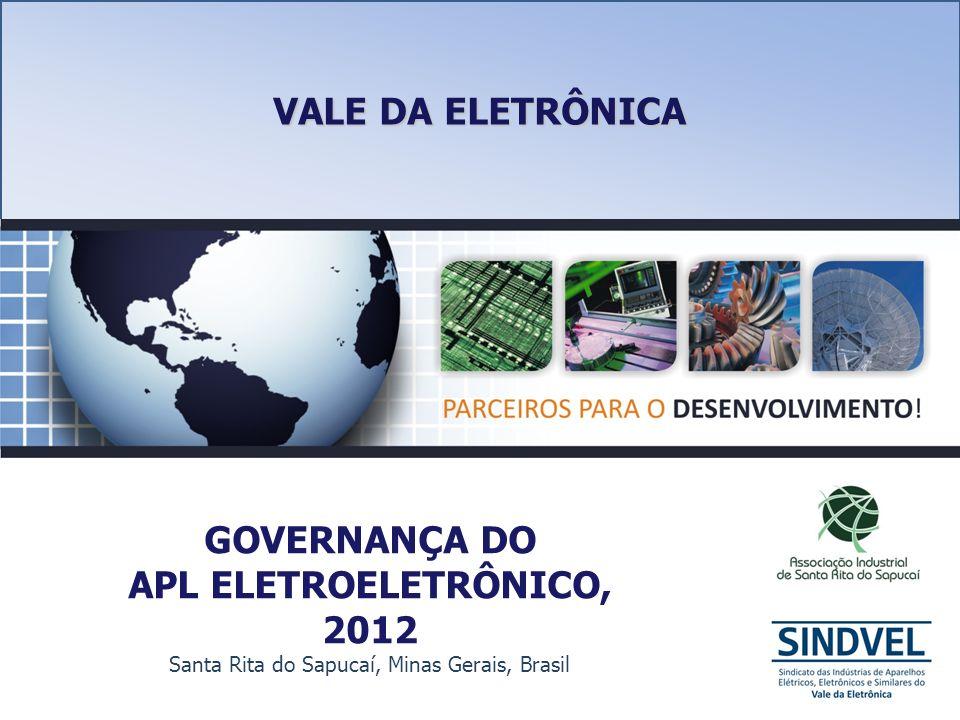 GOVERNANÇA DO APL ELETROELETRÔNICO, 2012 Santa Rita do Sapucaí, Minas Gerais, Brasil VALE DA ELETRÔNICA