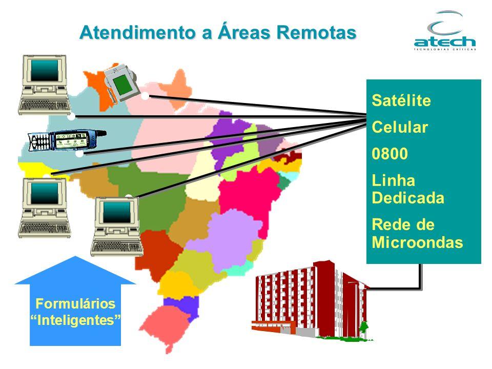 Formulários Inteligentes Atendimento a Áreas Remotas Satélite Celular 0800 Linha Dedicada Rede de Microondas