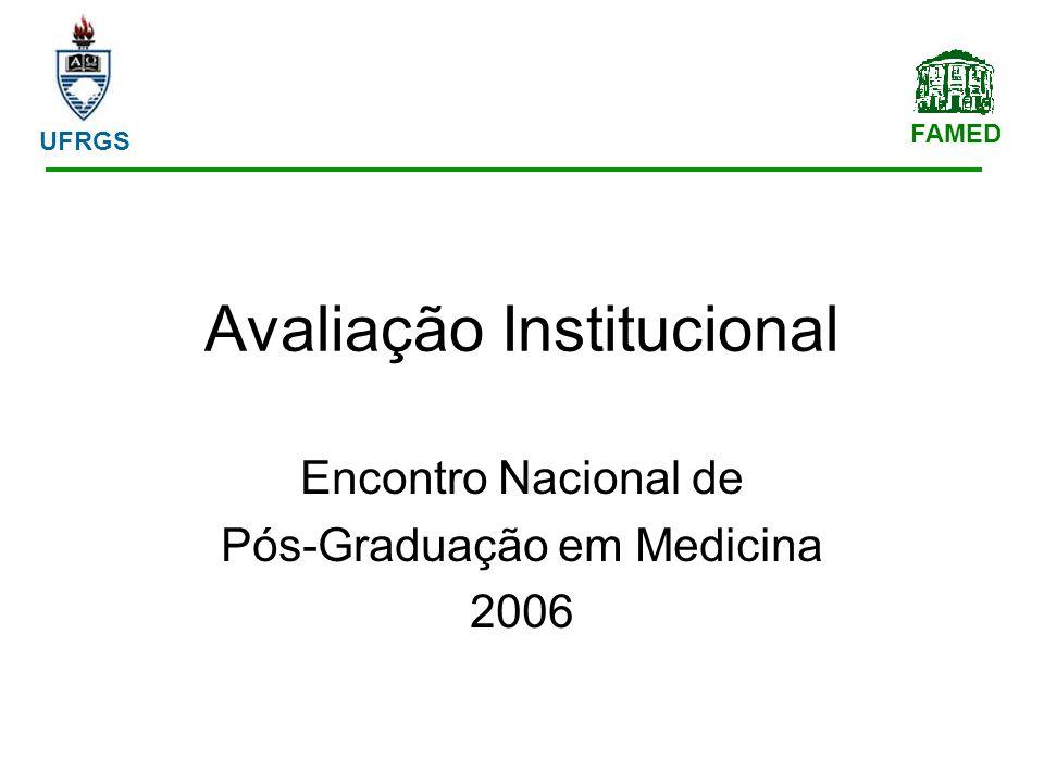 FAMED UFRGS Avaliação Institucional Encontro Nacional de Pós-Graduação em Medicina 2006