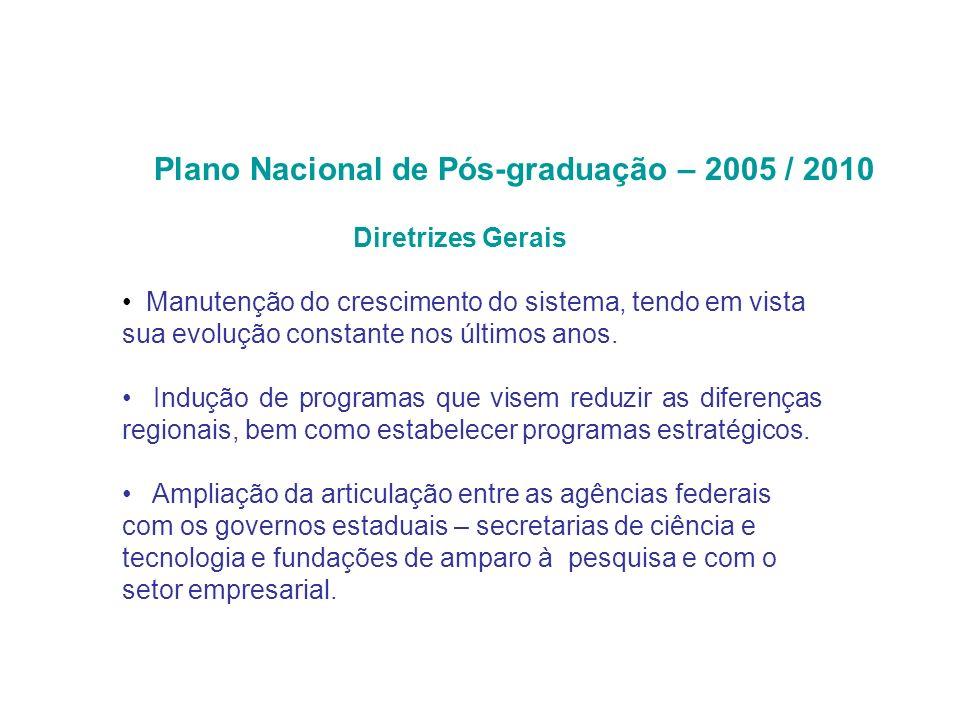 Diretrizes Gerais Manutenção do crescimento do sistema, tendo em vista sua evolução constante nos últimos anos.