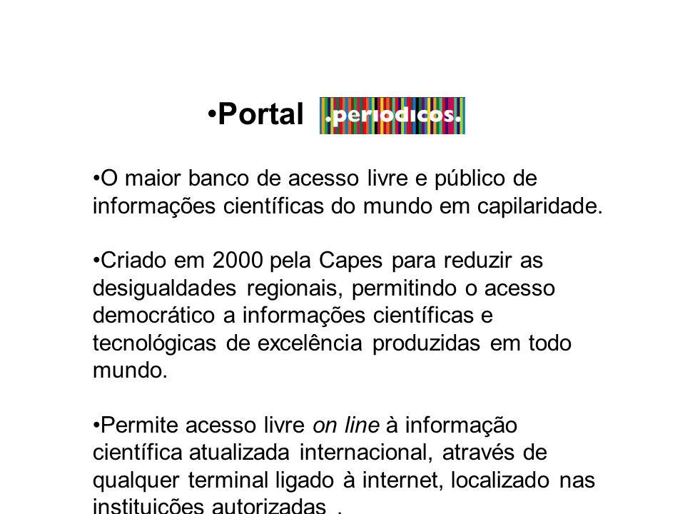 O maior banco de acesso livre e público de informações científicas do mundo em capilaridade.