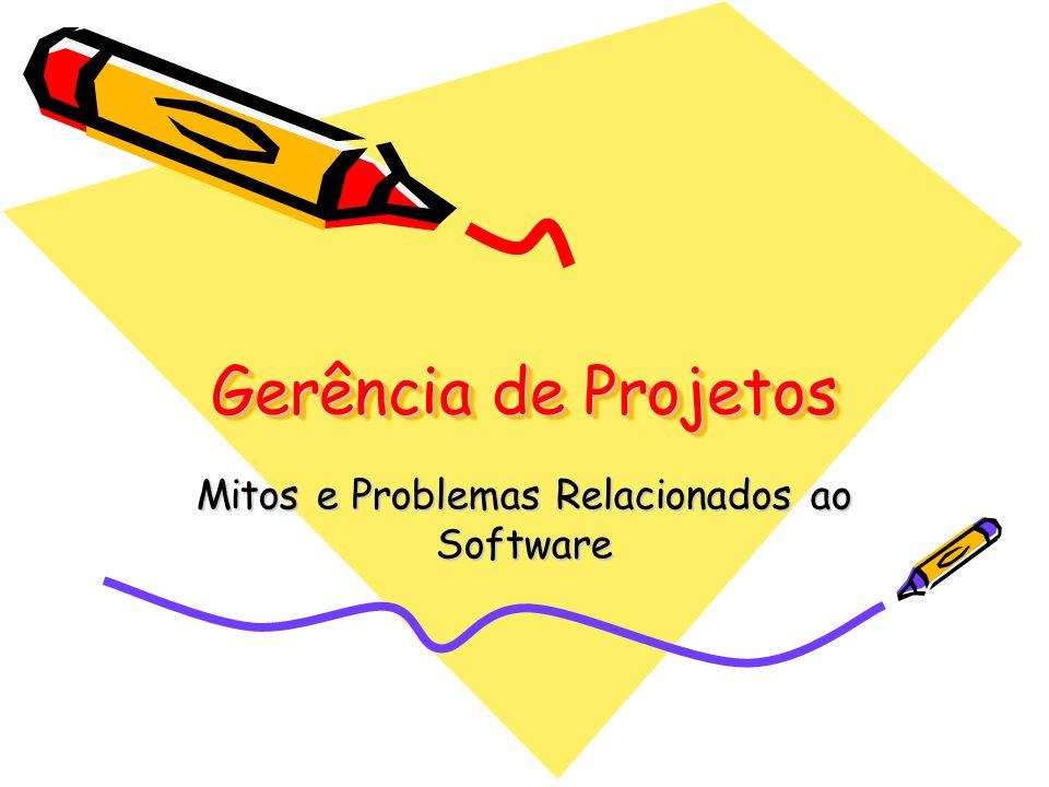 Gerência de Projetos Mitos e Problemas Relacionados ao Software