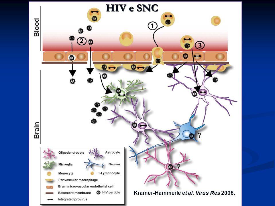Kramer-Hammerle et al. Virus Res 2006. HIV e SNC