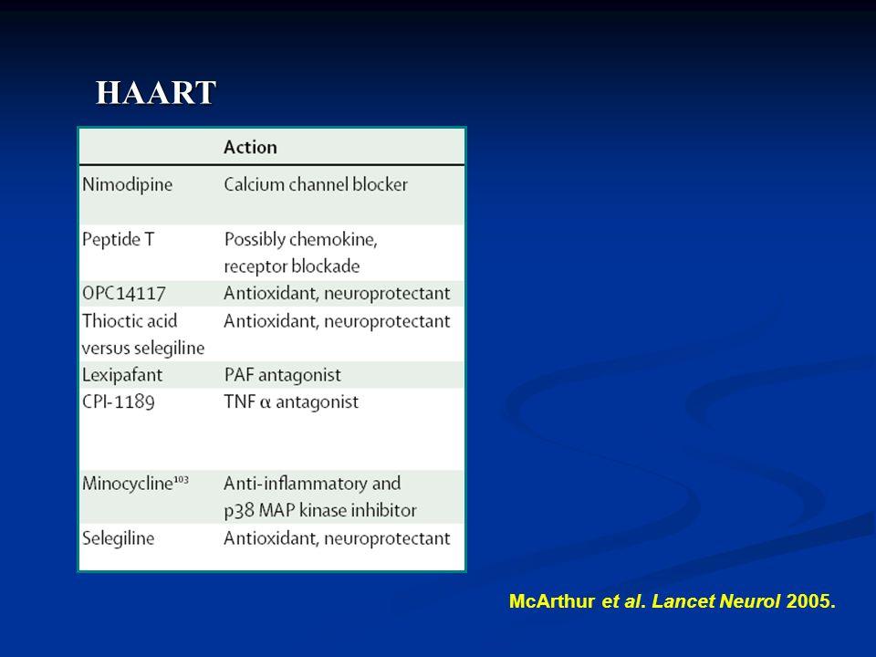 McArthur et al. Lancet Neurol 2005. HAART