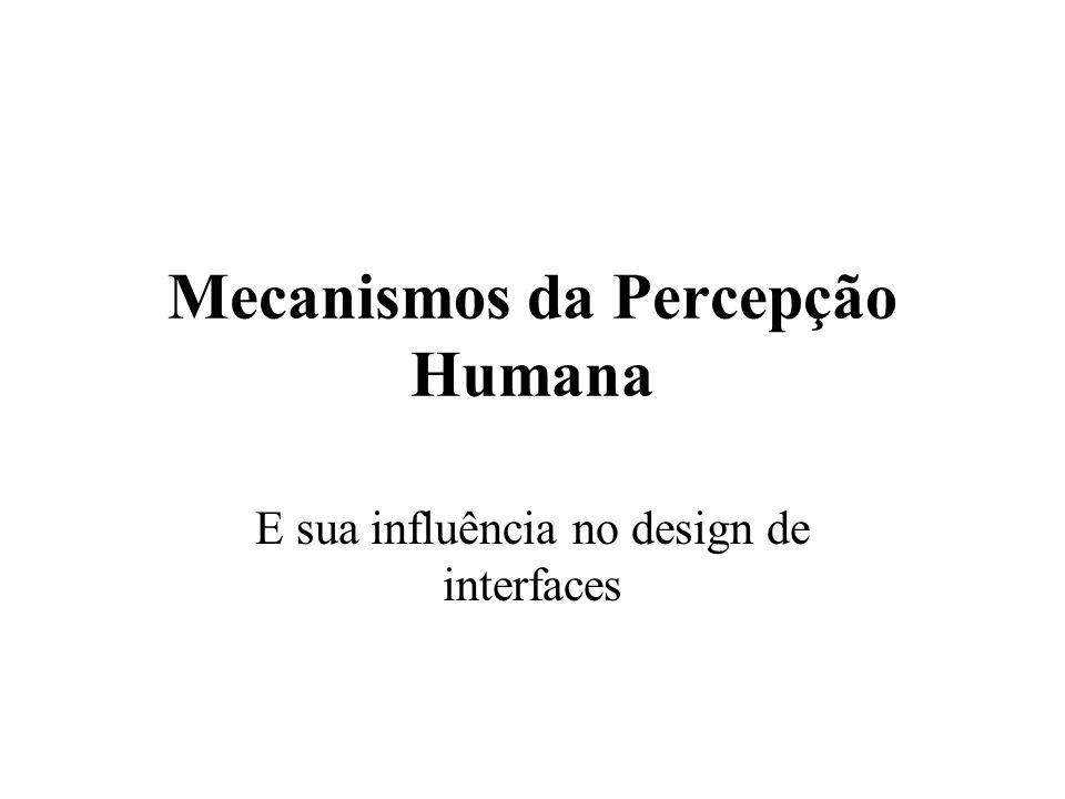 Mecanismos da Percepção Humana E sua influência no design de interfaces