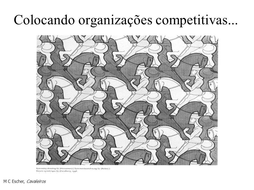 Colocando organizações competitivas... M C Escher, Cavaleiros