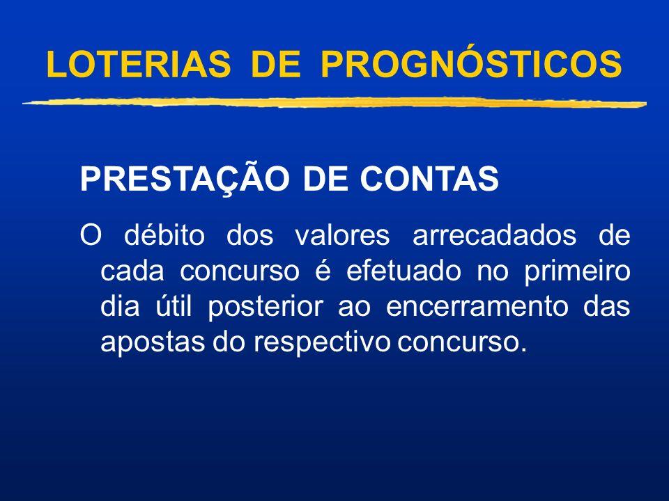 LOTERIAS DE PROGNÓSTICOS BOLÃO FEDERAL : É uma modalidade de Loteria Esportiva vinculada a campeonatos nacionais e/ou internacionais. O apostador indi