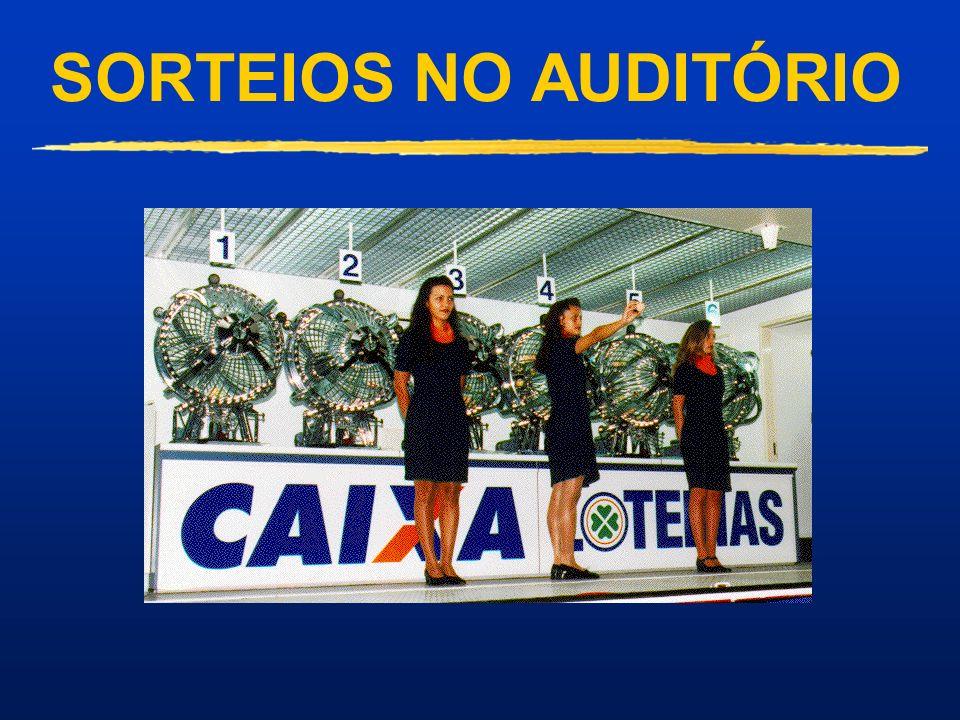 CAMINHÃO DA SORTE Promove as Loterias pelo Brasil Possibilita à Sociedade a constatação da lisura dos sorteios das Loterias da CAIXA pelo país Sorteio