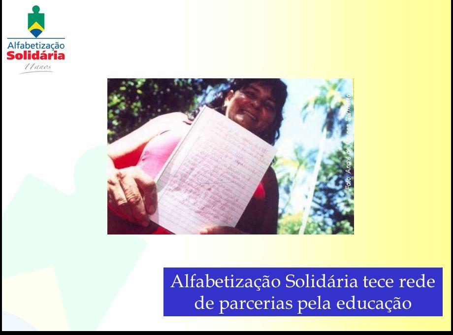 Alfabetização Solidária tece rede de parcerias pela educação Foto: André de Moraes Sarmento