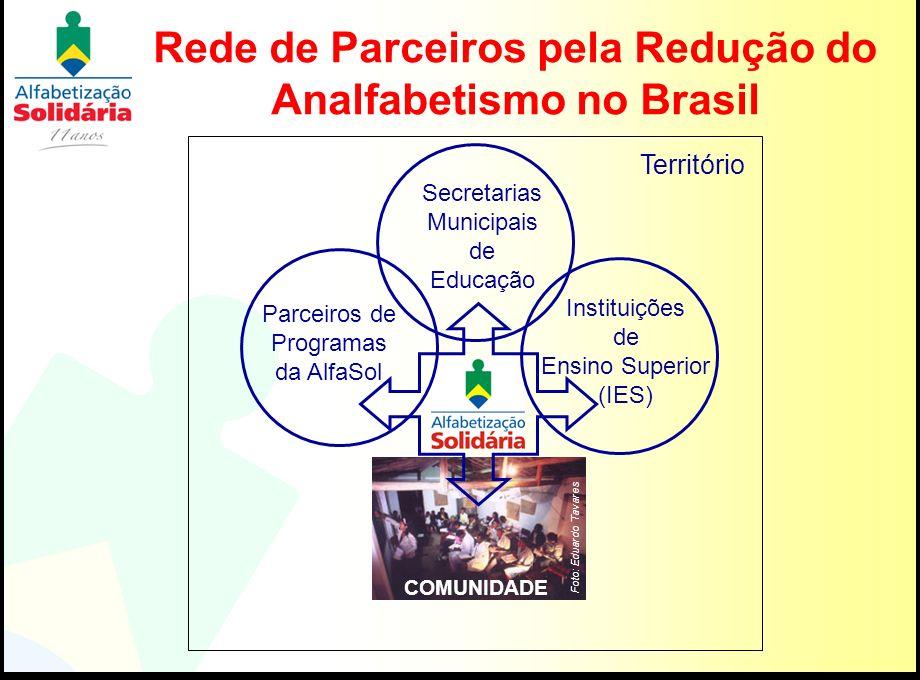 Rede de Parceiros pela Redução do Analfabetismo no Brasil COMUNIDADE Secretarias Municipais de Educação Foto: Eduardo Tavares Parceiros de Programas d