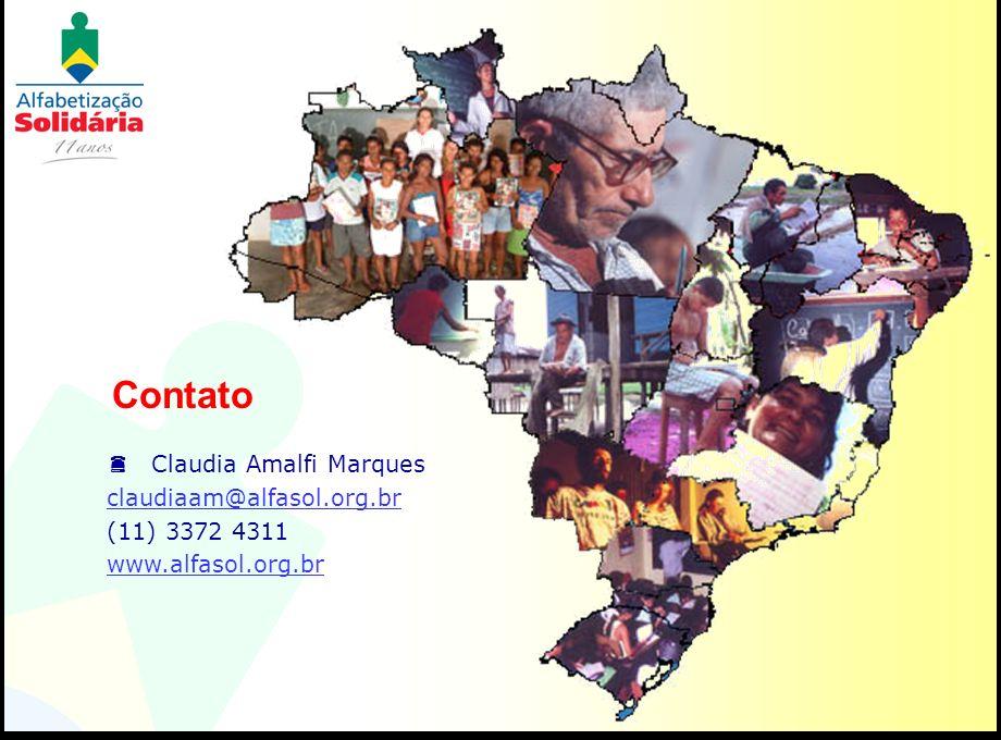 Contato Claudia Amalfi Marques claudiaam@alfasol.org.br (11) 3372 4311 www.alfasol.org.br