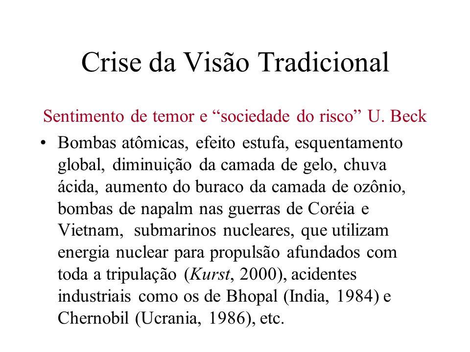 Crise da Visão Tradicional Percepção de que a ciência e a tecnologia tendem a concentrar a riqueza e a acentuar a desigual distribuição de riqueza e d