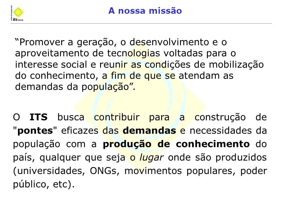 A Dimensão Inovadora da Tecnologia Social Jesus Carlos Delgado Garcia ITS – Instituto de Tecnologia Social