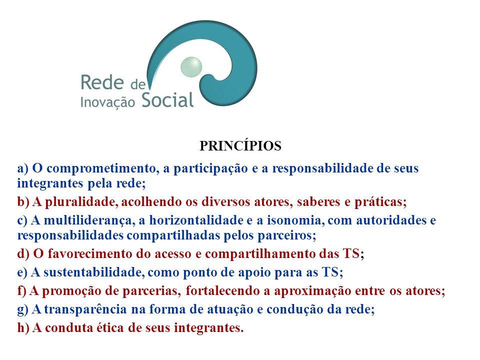 Visão Ser referência em Tecnologias Sociais e na articulação de parcerias que potencializem o desenvolvimento sustentável. Missão Inspirar, articular
