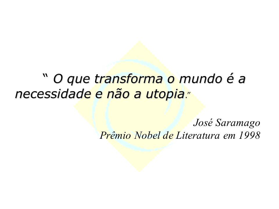 O que transforma o mundo é a necessidade e não a utopia O que transforma o mundo é a necessidade e não a utopia.
