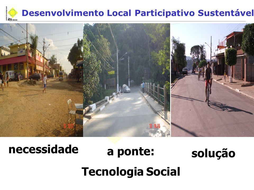 Desenvolvimento Local Participativo Sustentável necessidade a ponte: Tecnologia Social solução