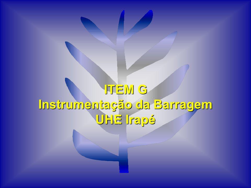 ITEM G Instrumentação da Barragem UHE Irapé