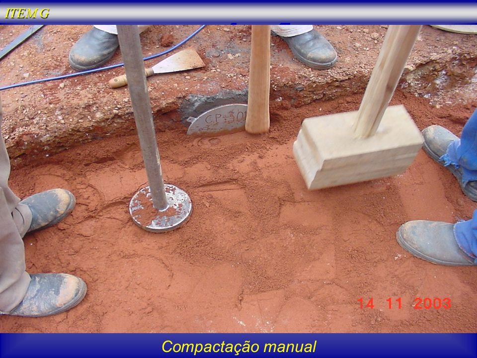 Compactação manual ITEM G