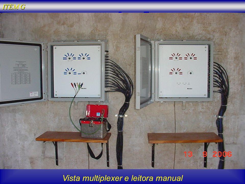 Vista multiplexer e leitora manual ITEM G