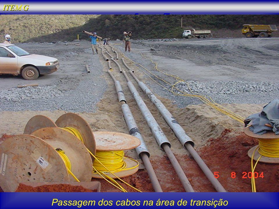 Passagem dos cabos na área de transição ITEM G
