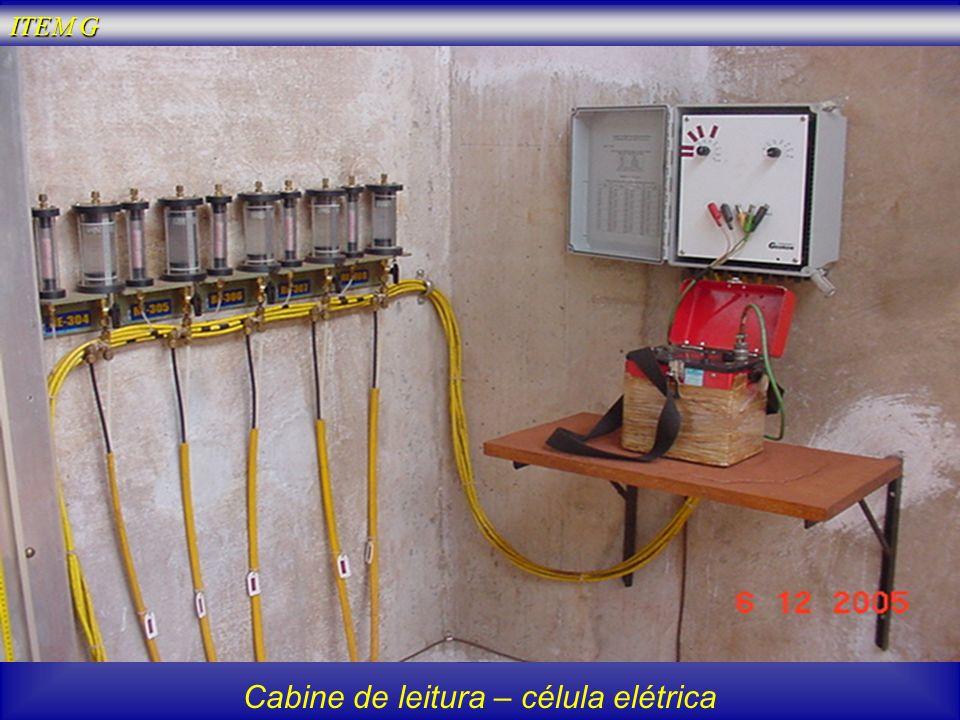 Cabine de leitura – célula elétrica ITEM G