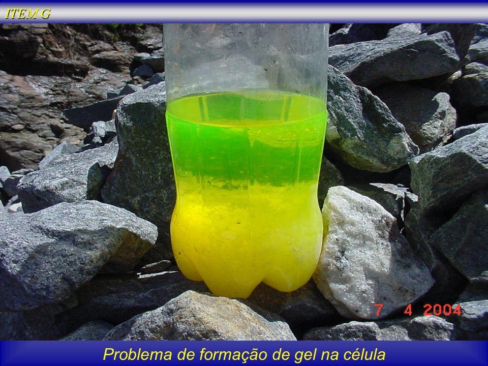 Problema de formação de gel na célula ITEM G