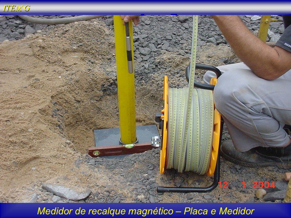 Medidor de recalque magnético – Placa e Medidor ITEM G