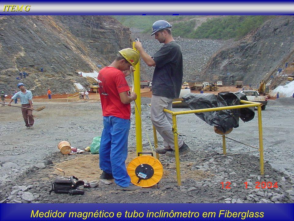 Medidor magnético e tubo inclinômetro em Fiberglass ITEM G